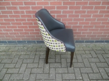 DOTT22 Tub Style Chair with Dotty Upholstery