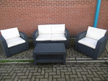 RATSET1 Outdoor Rattan Patio Set - 2 Chairs, 1 Sofa and Coffee Table