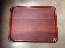 RMST9 Wood Effect Serving/Drinks Tray with Anti-Slip