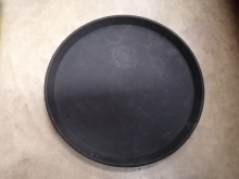 ASST10 Black Round Anti-Slip Serving/Drinks Tray