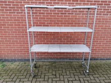 CSUS1 Commercial Shelving on Wheels with Storage Space