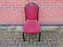 BCRA54 Aluminium Frame Banqueting Chair with Red Upholstery