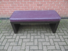 LPLR1 Luggage Rack/Bench with Purple Upholstery