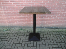 POTS02 Dark Wood Top Poseur Table