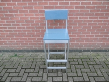 ALHS4 High Stool with Aluminium Frame