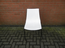 BCDL10 White Chair with Dark Legs