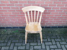 LWSB03 Light Wood Slat Back Pub Chair