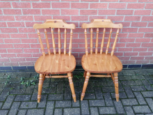 PFRD01 Pair of Wooden Farmhouse Style Restaurant Dining Chairs