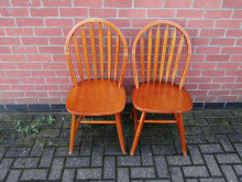 PRDCD01 Pair of Wooden Restaurant Dining Chairs