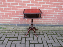 ASOT1 Antique Style Occasional/Decorative Table with Leather Inlay