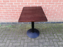DWT4 Dark Wood Pedestal Restaurant/Bar Table