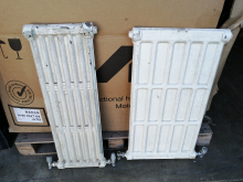 CASTBR1 Pair of White Cast Iron Radiators