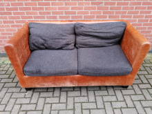 CFC0002 Leather and Fabric Sofa