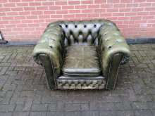 CFC0071 Green Chesterfield Armchair
