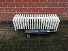 CFC0076 White Cast Iron Radiator