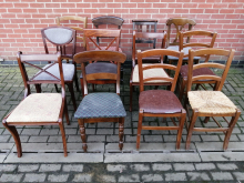 JOB15 Job Lot of 12 Mixed Dining Chairs