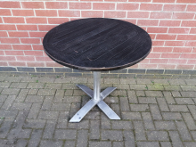 CFC0119 Round Flip Top Outdoor Table 80cm