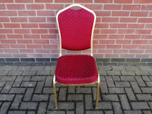 CFC0201 Red and Gold Banqueting Chair