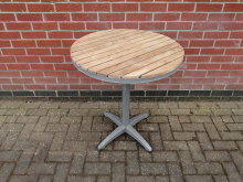 CFC0206 Round Outdoor Table with Wood Top